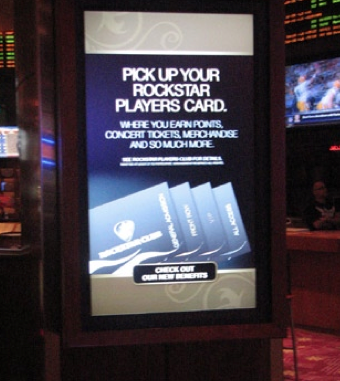 casino digital signage