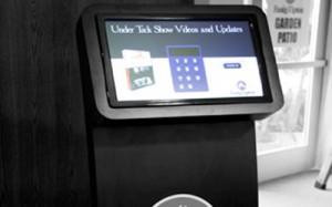 Fasig-Tipton digital signage kiosk