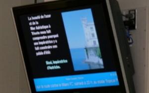 university digital signage program