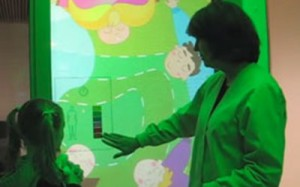 GE medical digital touch screen signage