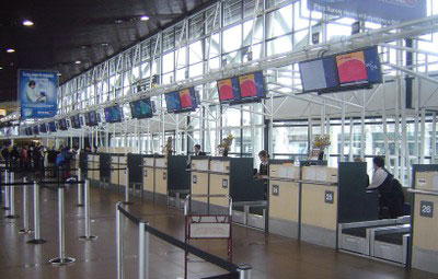 international airport digital signage