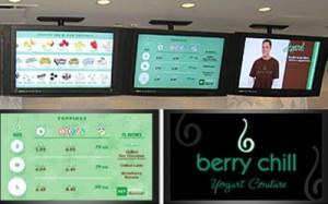 berry chill digital menu board