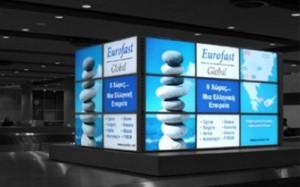 larnaca airport digital screens