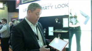 Scala demo's sales associate/retail fashion wall at ISE 2015