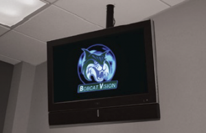 Bobcat Vision, the name of GCSU's digital signage network.