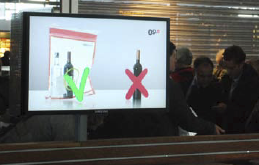Oslo Airport has received positive feedback from the public. The confiscation of restricted goods like alcohol has decreased significantly. This shows that travelers are seeing and understanding the information.