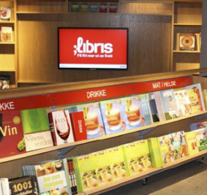 Libris uses one main channel to display its campaign messages, which include corporate branding ads and promotions from various publishers, and information about Libris' own book club.