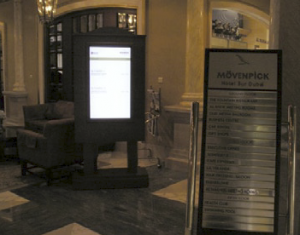 Guest Information Network Located in Hotel Lobby