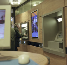 In 2002, the project started with 25 local banks each outfitted with plasma screens in the bank and at each ATM machine.