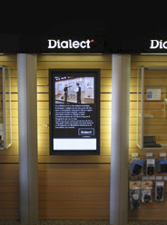 The new digital signage solution has been so effective that another 10-20 Dialect stores will join the network this year.