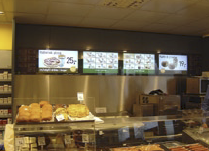 Each of the 166 Shell FRESH gas stations are fitted with a 4-screen digital menu board located in the FRESH section of the store and driven by two channels of Scala InfoChannel® software. Currently 400 Scala InfoChannel® Players are deployed throughout the Shell FRESH network.