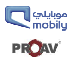 Over the past three years, PROAV have worked as a business partner with Mobily helping them deploy in 35 Flagship Outlets, 45 Fully Branded Outlets, 182 Mini Fully Branded Outlets, and 3 Mobily Megastores.