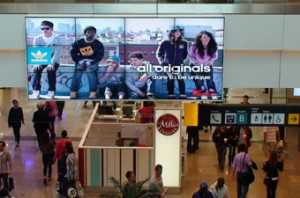 westfield mall digital signage retail