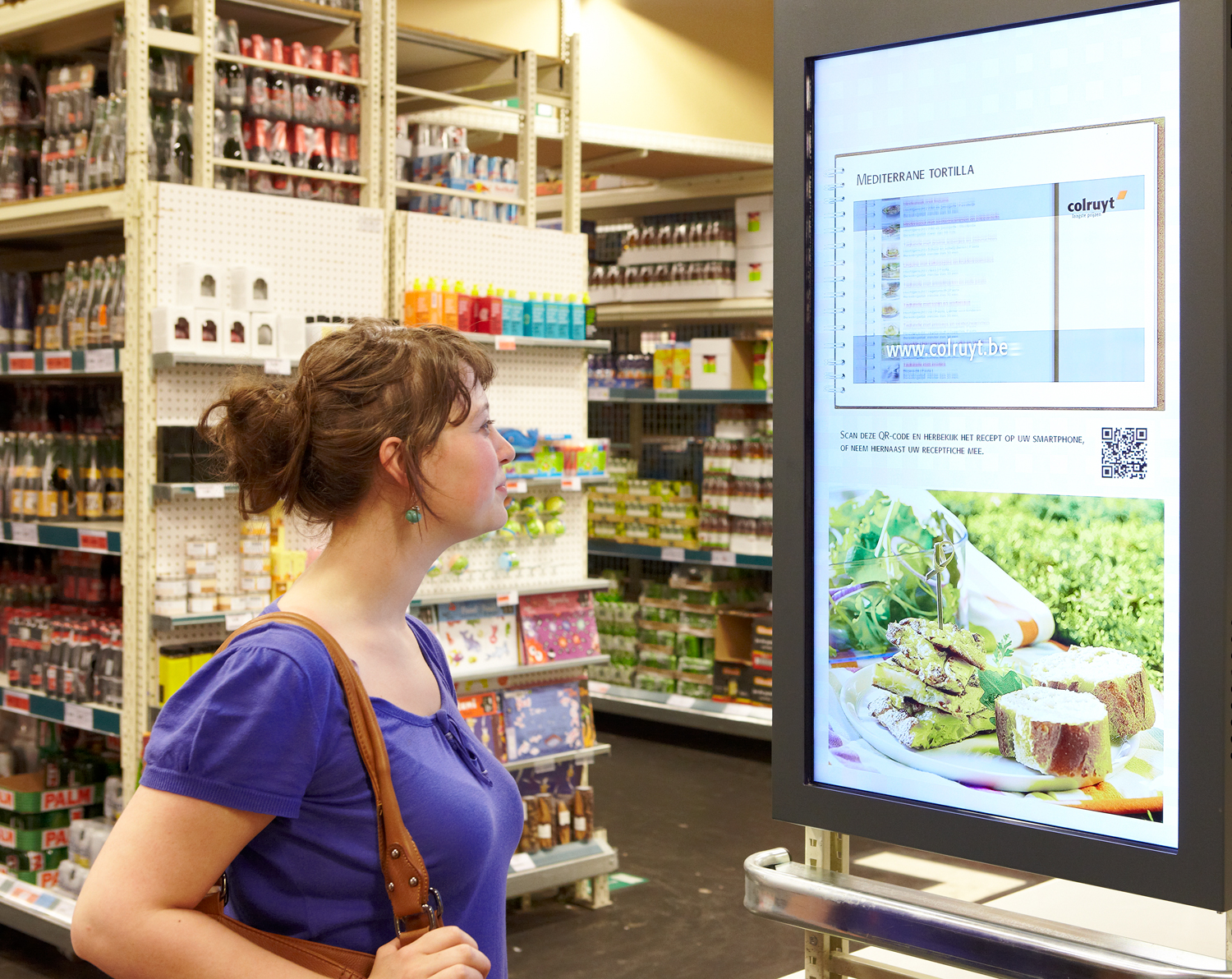 Colruyt serves up digital signage for effective customer communication