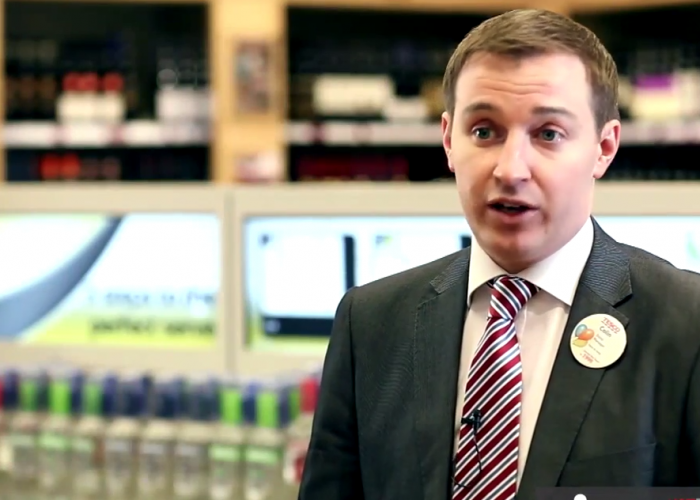 Engaging Shopping Experience at Tesco Off License