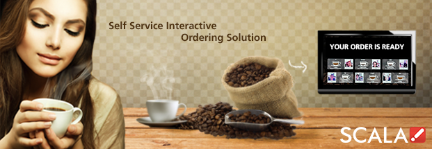 Scala Connected Cafe Interactive Digital Signage Ordering Solution