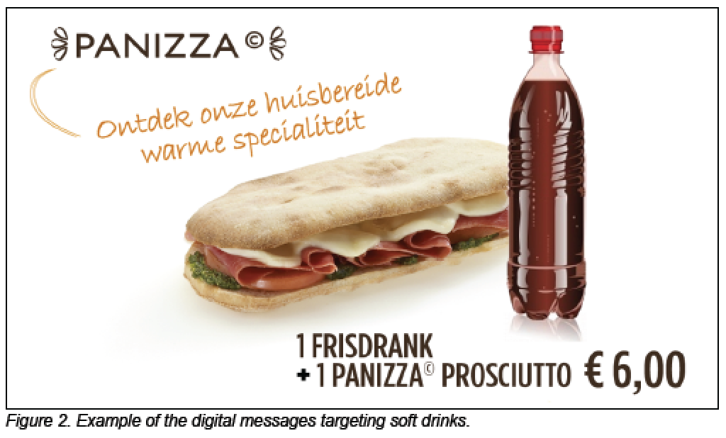 Panos Restaurant Digital Messaging Targeting Soft Drinks