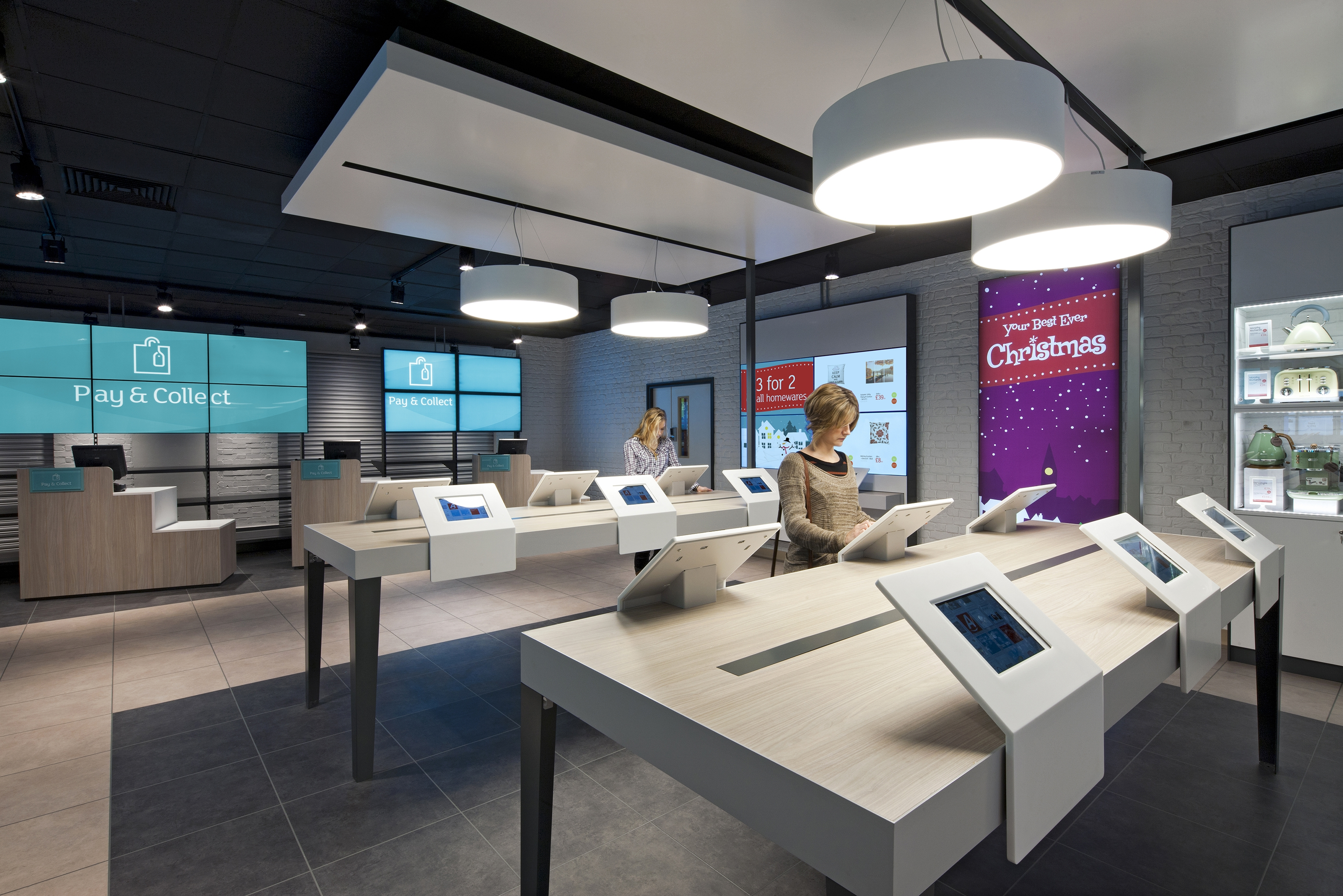 Argos case study scala digital signage software Interior design stores london