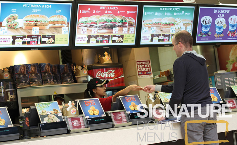Quick Service Restaurants Industry Use Scala Digital Signage
