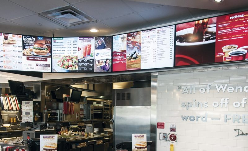 Digital Menu Boards Wendys