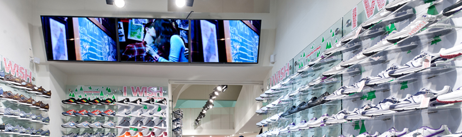 Digital signage and in-store radio provide a unique shopping experience at AW LAB