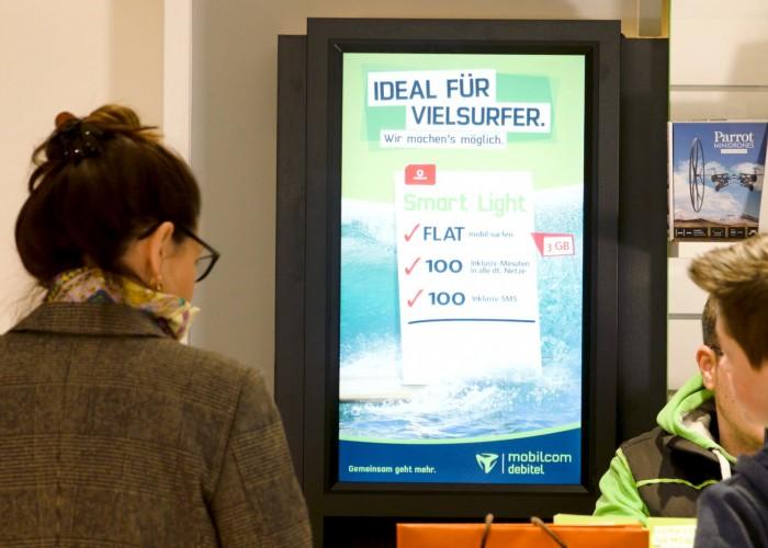 Digital signage supports mobilcom-debitel transformation