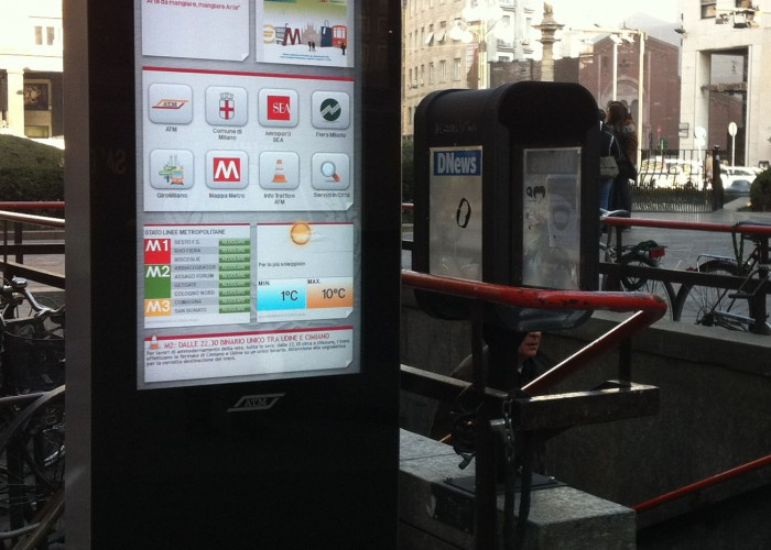 ATM, Milan Transport Agency, installs interactive totems providing full access to all public transport schedules, travel and event information around the clock