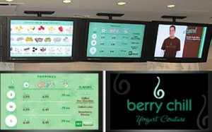 berry chill digital menu board