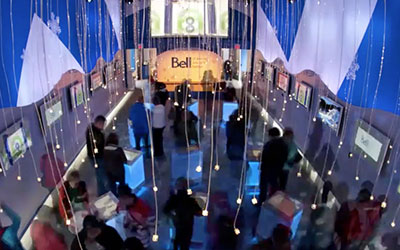 bell digital signage touch screen
