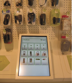 On these kiosks, customers can browse through other KPN product categories such as TV and Internet services.