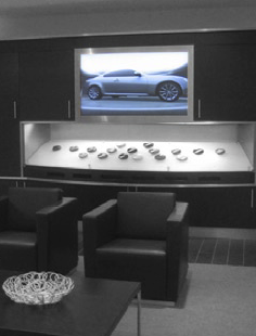 Infiniti then provides these customers with the opportunity to see and touch the options selected.