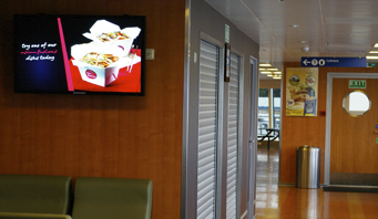 In the fall of 2008, BC Ferries turned to The Data Works Inc., a British Columbia-based digital signage company, to develop a digital signage program for the new vessels