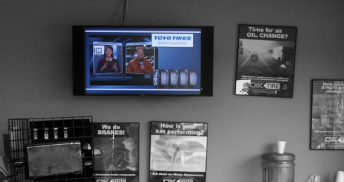 At the time, in-store digital signage networks weren't common in Canada, but Toyo Tires was willing to take a risk and develop a network for its dealer base across the country.