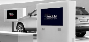 Digital content created by Audi's marketing team for use in the Audi digital showroom includes advertorial films, Audi sporting and corporate events, Audi news, and features on culture, innovation and concepts.
