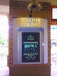 "Other interactive ""Touch Me for Info"" screens are positioned around the property to assist customers with wayfinding and shopping information."