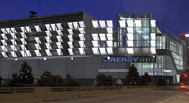 A series of glistening metal panels set at angles along the western facade that gleam alongside Interstate 75, proclaiming C-I-N-C-I-NN- A-T-I in 50-foot-tall letters.