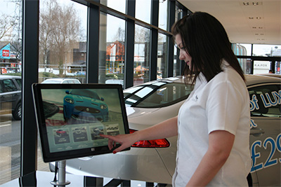 Jaguar engages customers with interactive digital signage