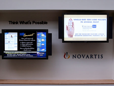 Novartis pharmaceutical digital signage