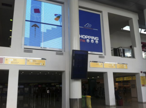 Two 4x3 meters LED walls at Naples Airport