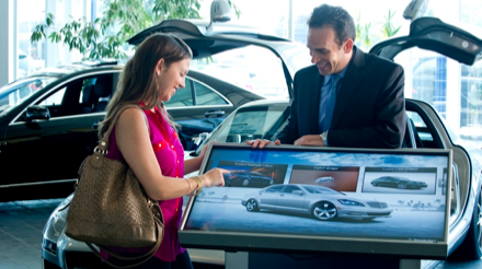 Mercedes benz digital signage network making a great for Mercedes benz retail careers
