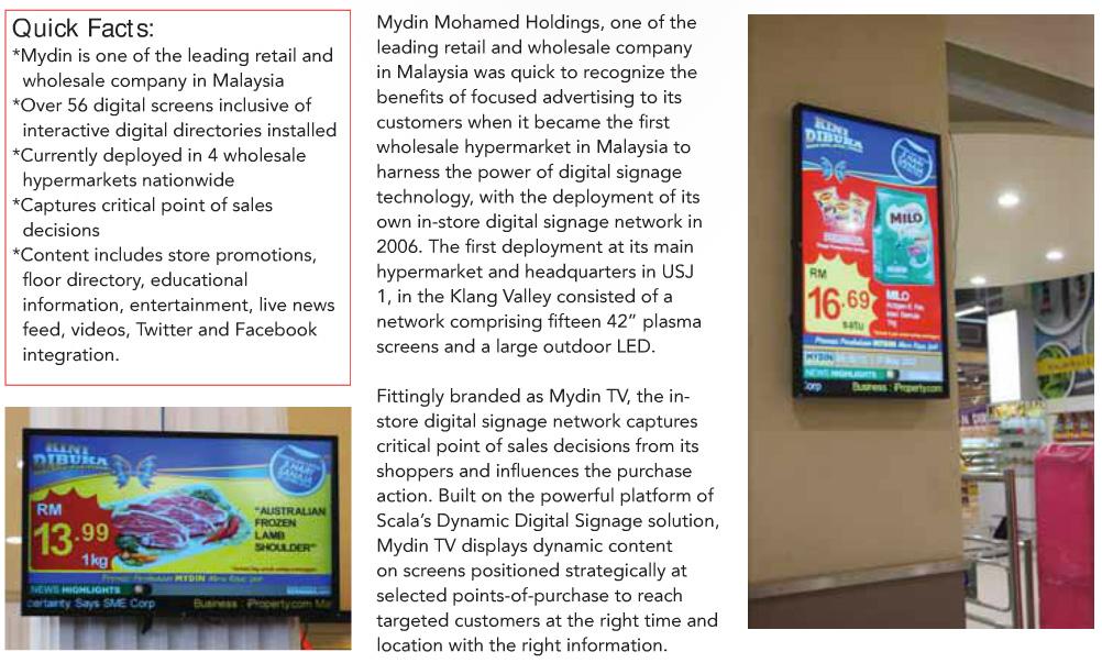 Mydin Malaysia Digital Signage Hypermarket