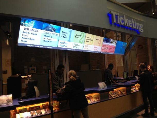 Franklin Institute Dynamic Digital Signage and Ticketing