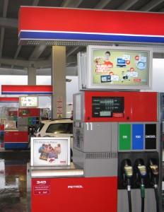 gas petrol station digital signage