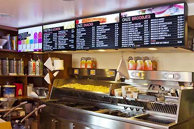 Digital Menu Board Restaurant