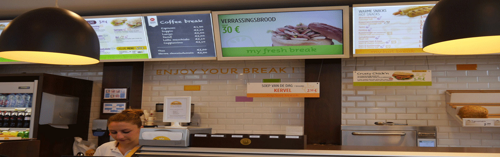 Digital signage to drive sales and generate demonstrable results at Panos